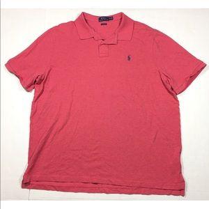 Polo Ralph Lauren Pink Short Sleeve Polo Shirt XXL